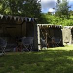 Our 3 tents set up ready to welcome a group of 6 guests at our Back to Nature Weekend
